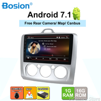 2 din car radio android 7.1 for ford focus with Radio Tuner GPS Navigation Mirror Link Bluetooth Wifi 3G/4G Rear View Camera Map