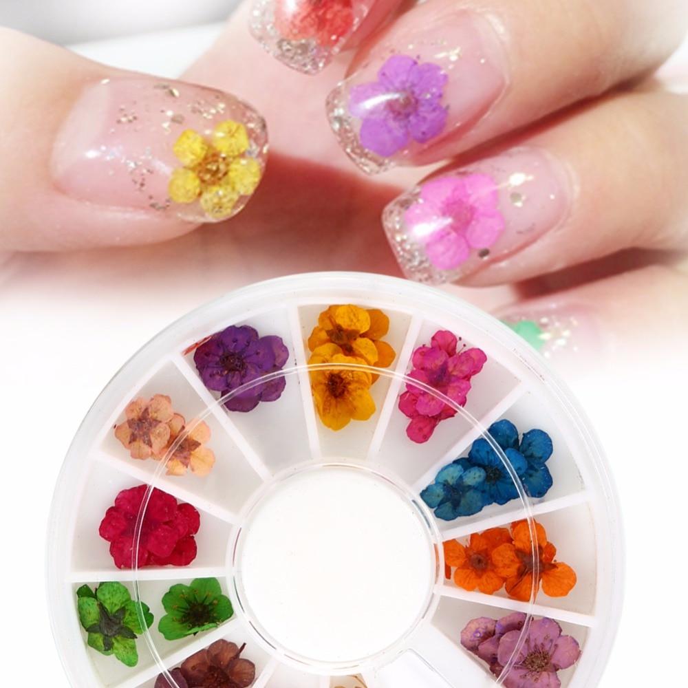 Online Shop Unique 3d Nail Art Decoration Nail Dried Flower Manicure