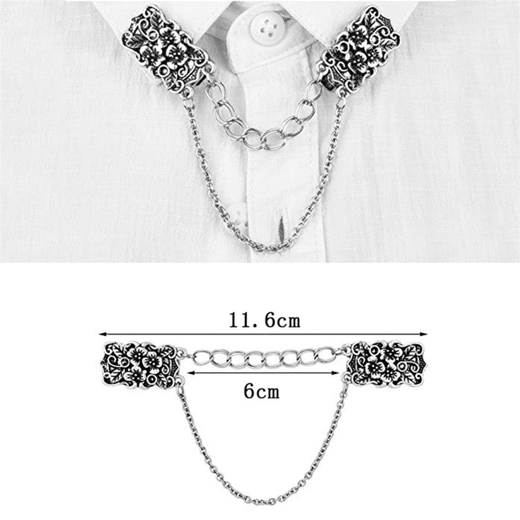 5764ffec0926 new design Hot Sale 1Pcs Women Cardigan Sweater Blouse Shawl Clips Shirt  Collar Retro Duck Clip Clasps Gift for women