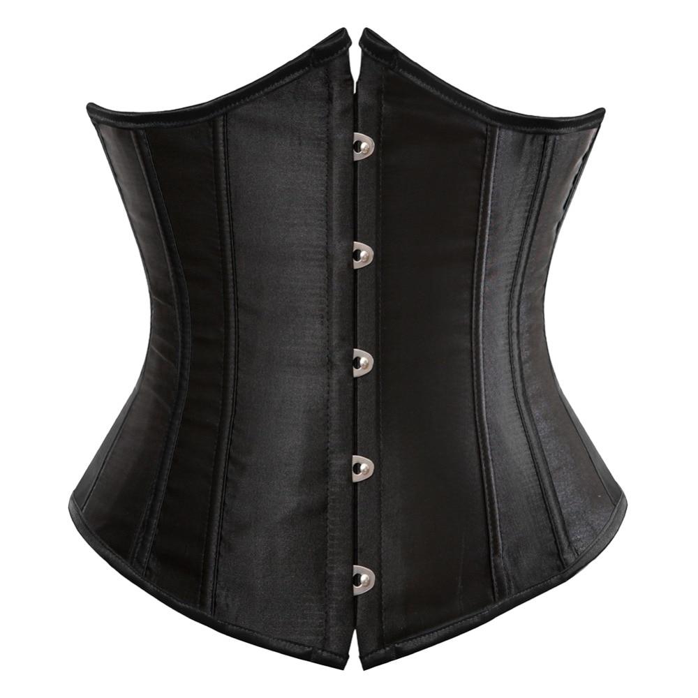Underbust Corset Lingerie Body-Belt Waist-Cincher Workout-Shape Sexy Gothic Plus-Size