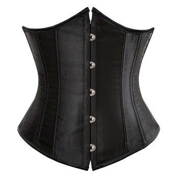 SEXY Gothic Underbust Corset and Waist cincher Bustiers Top Workout Shape Body Belt Plus size Lingerie S-6XL 1
