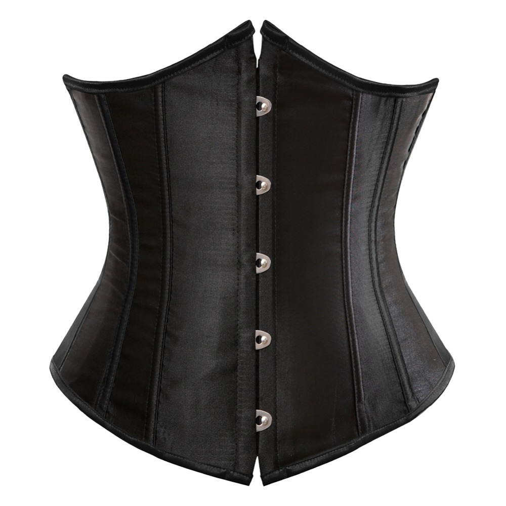 <font><b>SEXY</b></font> Gothic Underbust Corset and Waist cincher Bustiers Top Workout Shape Body Belt Plus size <font><b>Lingerie</b></font> S-<font><b>6XL</b></font> image