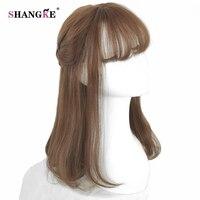 SHANGKE Lange Bob Weiblichen Perücke Frauen Hitzebeständige Synthetische Haar perücken Für Schwarze Weiße Frauen Gefälschte Haarteile 6 Farben verfügbar