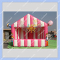 Nice  Inflatable Pink Booth for Pop Corn and Candy Floss Business, Inflatable Stall Building DHL Free Shipping+ Free Blower