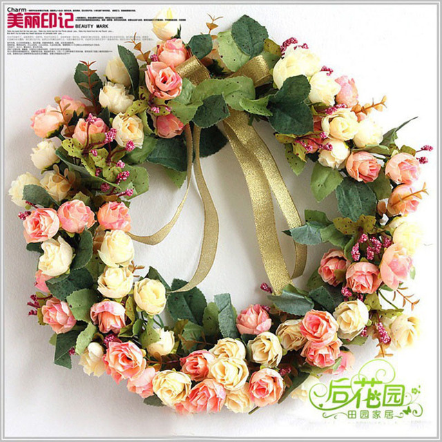 Q artificial flowers door decoration rose wreath ornaments wedding q artificial flowers door decoration rose wreath ornaments wedding decoration bride home decoration xj junglespirit Choice Image