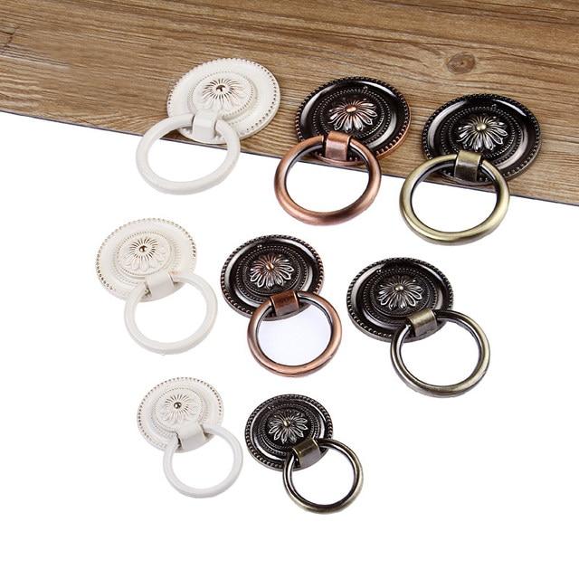 Etonnant Vintage Cabinet Knob Drawer Dresser Cupboard Drop Ring Handles Vintage  Drawer Knobs Pull Bronze/copper/white