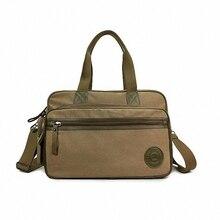 Fashion Korean men casual shoulder Luggage bag man women convenient travel large canvas handbag men 15 inch laptop bag LI-903