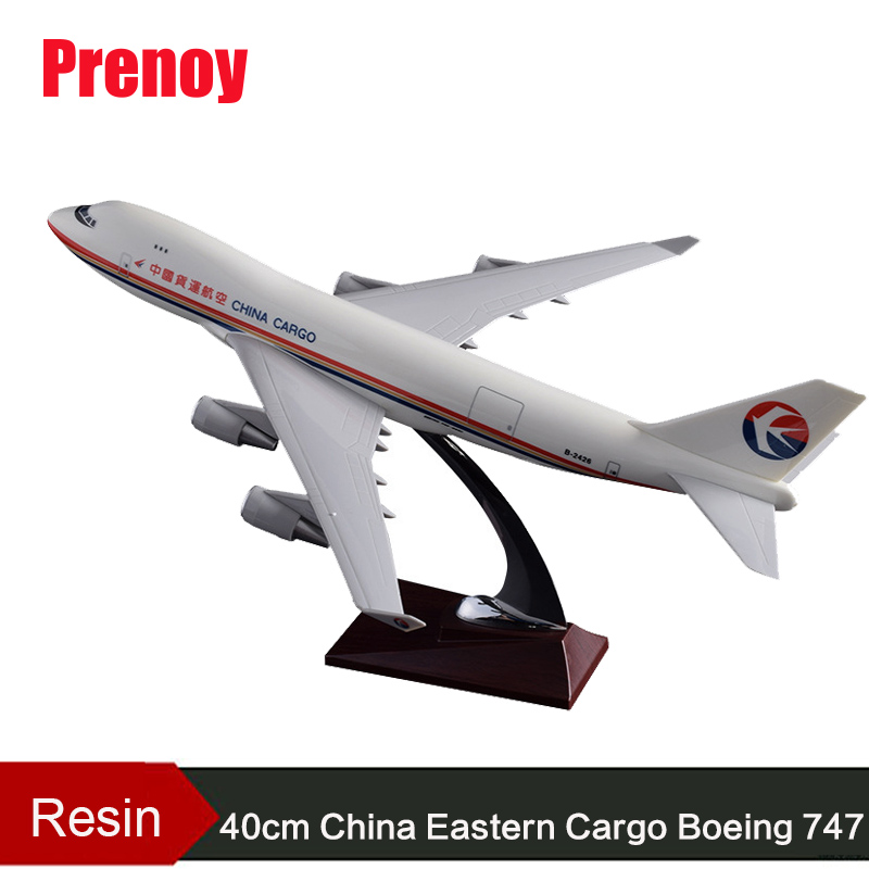 40cm B747-400 Airplane Model China Eastern Air Cargo Airways Airbus Model Beoing 747-400 China Eastern Cargo Resin Plane Model phoenix 11079 airlines b747 8f vq bvc silkway 1 400 commercial jetliners plane model hobby