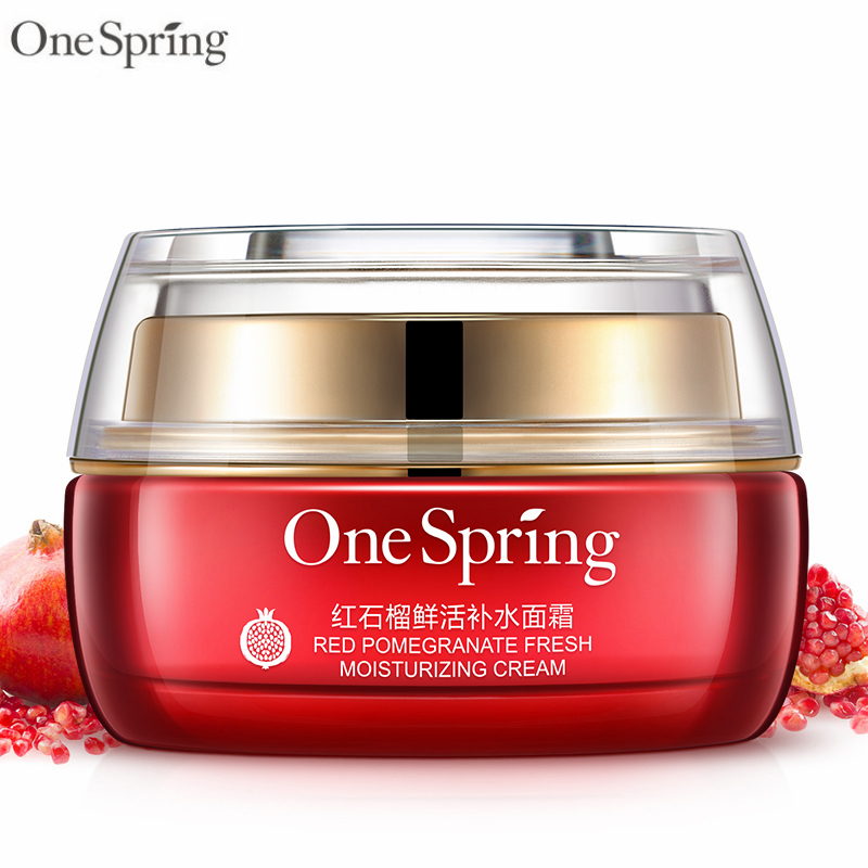 One Spring 50g Face Cream Red Pomegranate Herbal Whitening Moisturizing Nourishing Anti Aging Anti Wrinkle Essence Day Cream