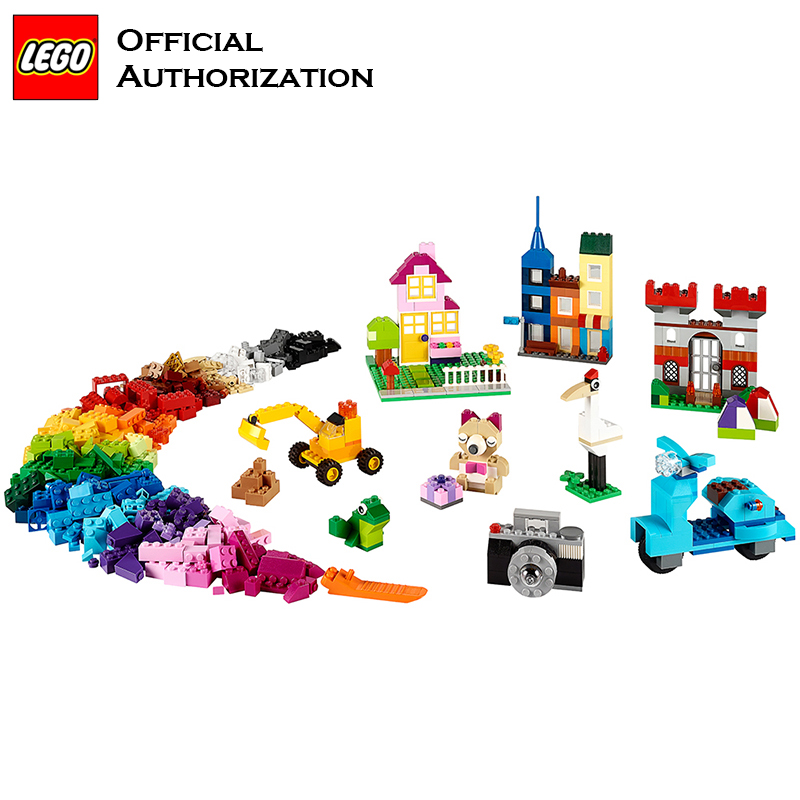 Legoia Stacking Blocks <font><b>Classic</b></font> Series 790 pcs Accessories Toys <font><b>10698</b></font> Storage box PuzzToys <font><b>Lego</b></font> Brand Creative Blocks Toy image