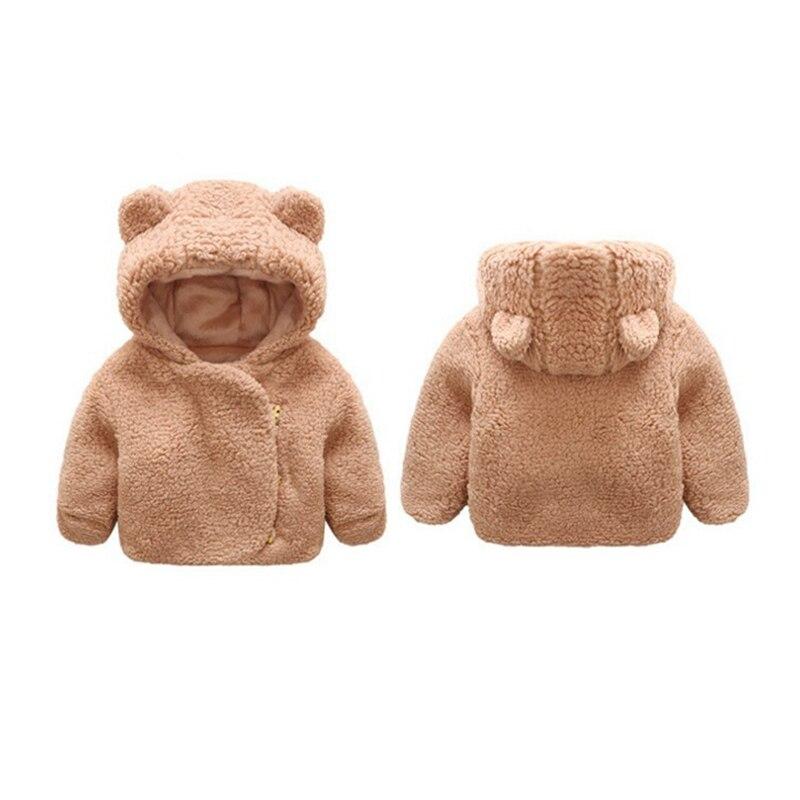 3M-3T casual winterbaby girl plush jacket children warm clothes baby boy cute children birthday gift children