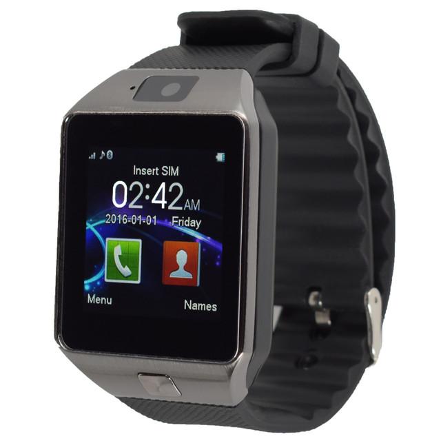 Cámara de smart watch para el teléfono android gv18 gt08 1.54 ips Tarjeta Sim Soporte de Sincronización de reloj Notificador Bluetooth Conectividad PK Q18 GT88