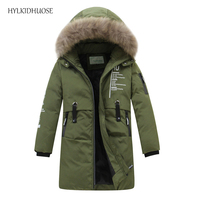 HYLKIDHUOSE 2017 Baby Girls Winter Coats Outdoor Children Down Jackets Kids Casual Outerwear Student Warm Thick