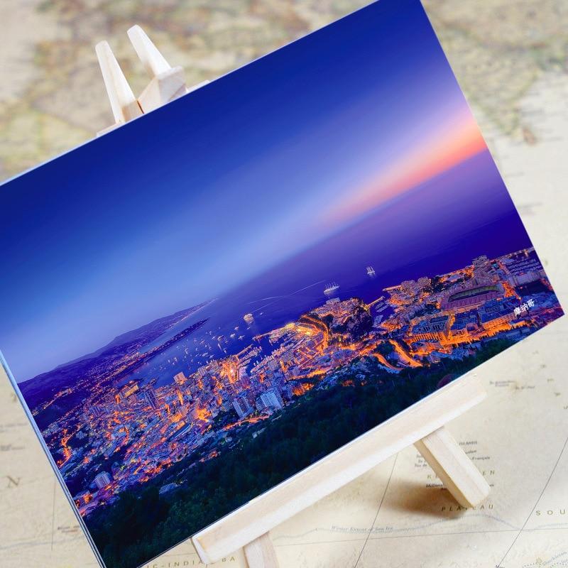 Visitenkarten 6 Teile/los charming Stadt Serie-monaco Landschaft Postkarte/gruß Karte/wünschen Karte/weihnachten Geschenke Hitze Und Durst Lindern.