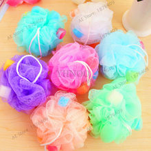 1pcs Bath Ball Tubs Scrubber Shower Body Cleaning Mesh Shower Wash Nylon Sponge Bath Accessories rich bubbles(China)