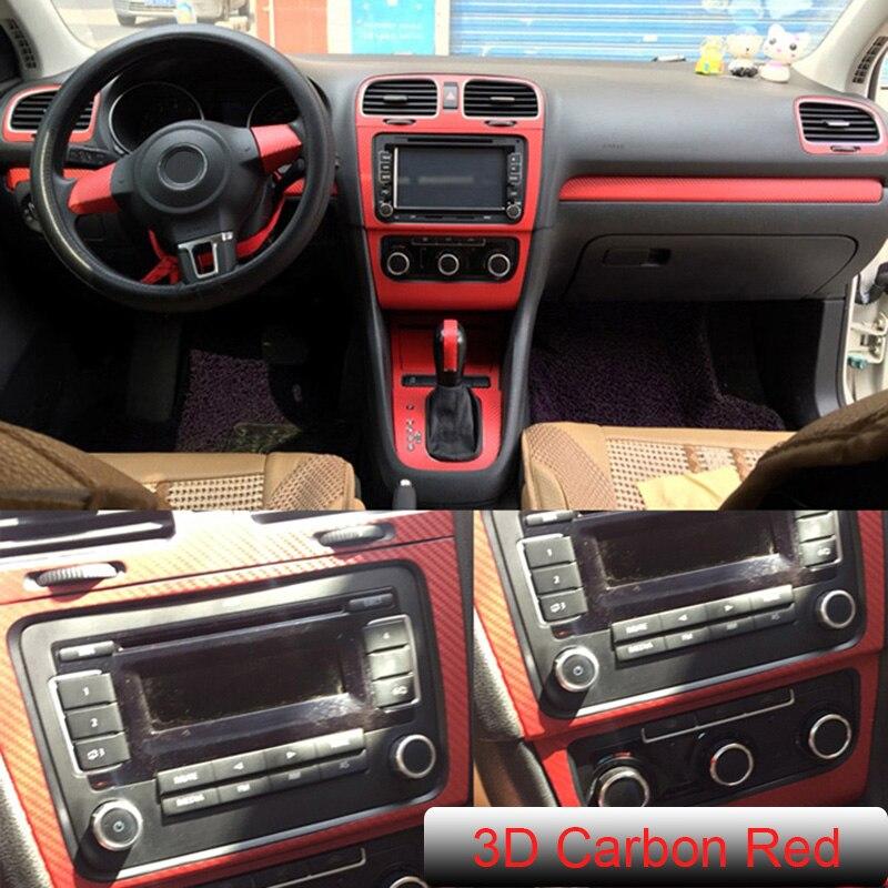 SUNFADA 3D 4D 5D Carbon Fiber Vinyl Stickers For VW Volkswagen GOLF 6 MK6 GTI R20