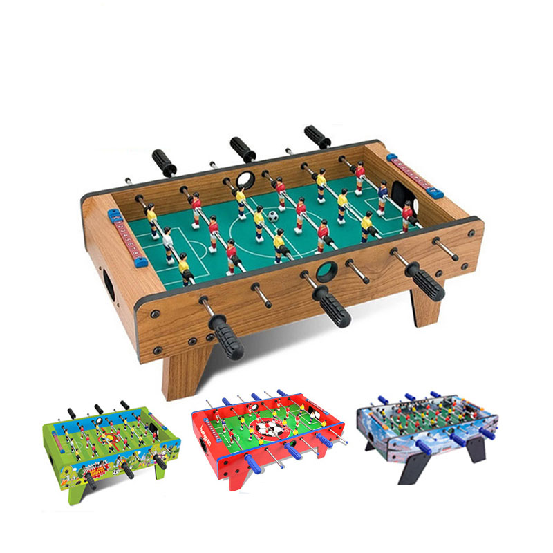 27 Inch Tabletop Soccer Football Table Game Kis Game Set With Legs Wooden  ,red ,