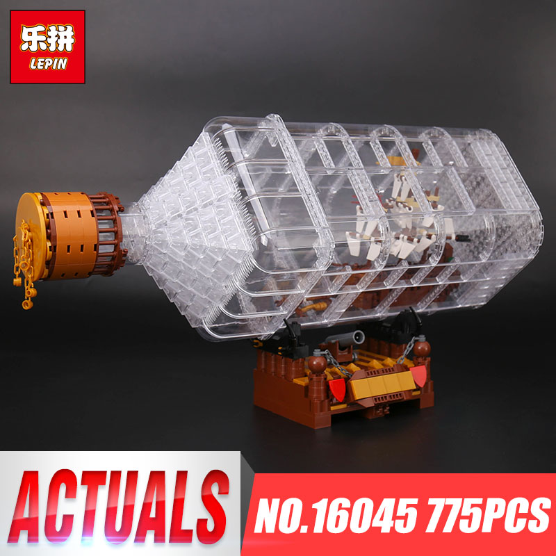 Lepin 16045 Genuine 775pcs Creative Series The Ship in the Bottle Set Building Blocks Bricks Toys Model Gifts Educational Gifts black pearl building blocks kaizi ky87010 pirates of the caribbean ship self locking bricks assembling toys 1184pcs set gift
