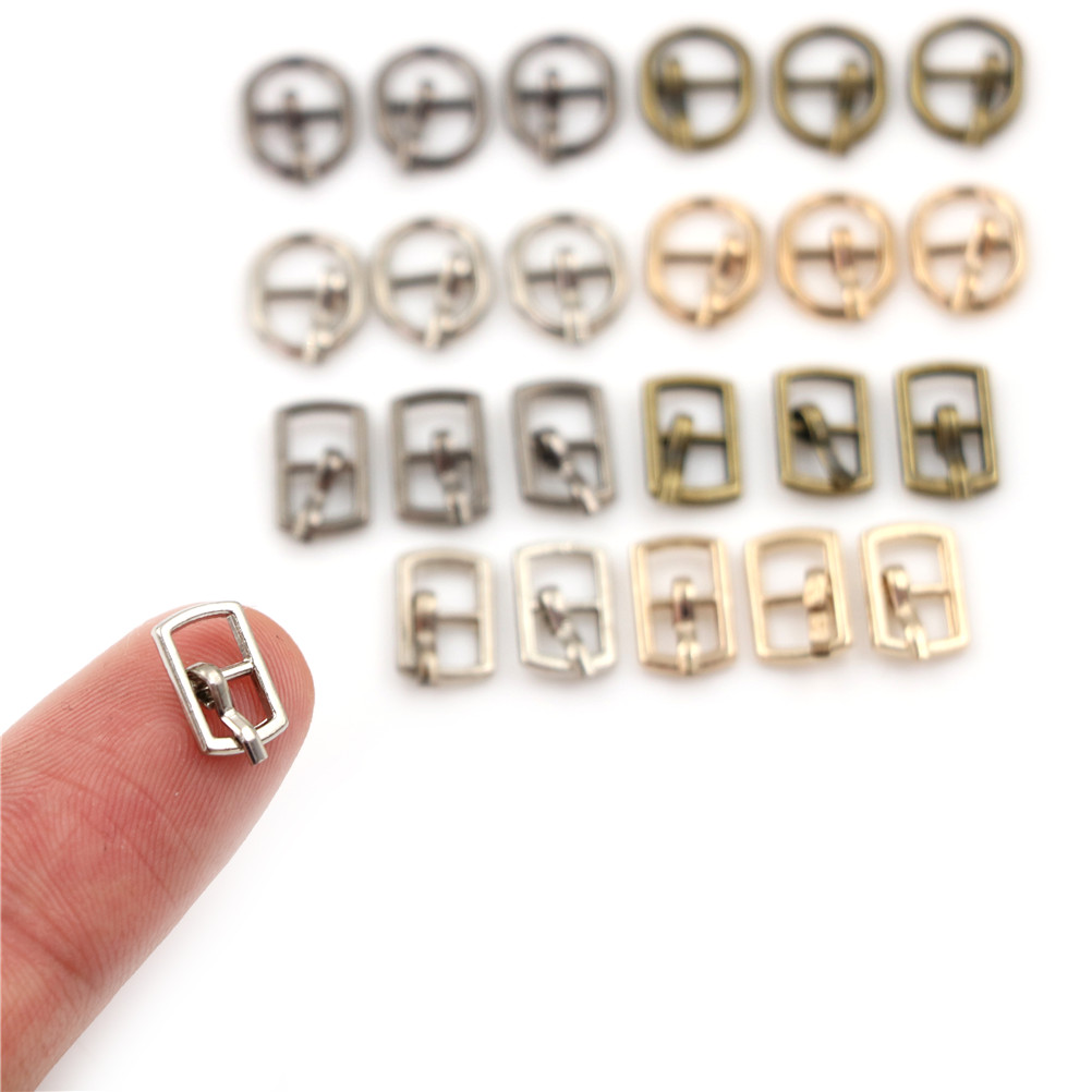 20pcs 3MM Diy Ultra-small Japanese Word Buckle For bjd blyth doll Clothes Shoes