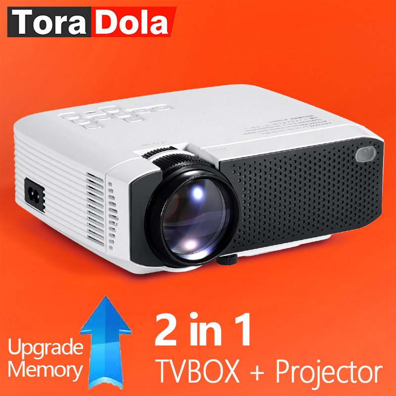 2019 Nieuwste Ontwerp Tora Dola Led Projector Android 7.1os. 1280x720 Resolutie Home Cinema, 1080 P Beamer Wifi Beste Smart Mini Hd Projector Td01 Eenvoudig En Eenvoudig Te Hanteren