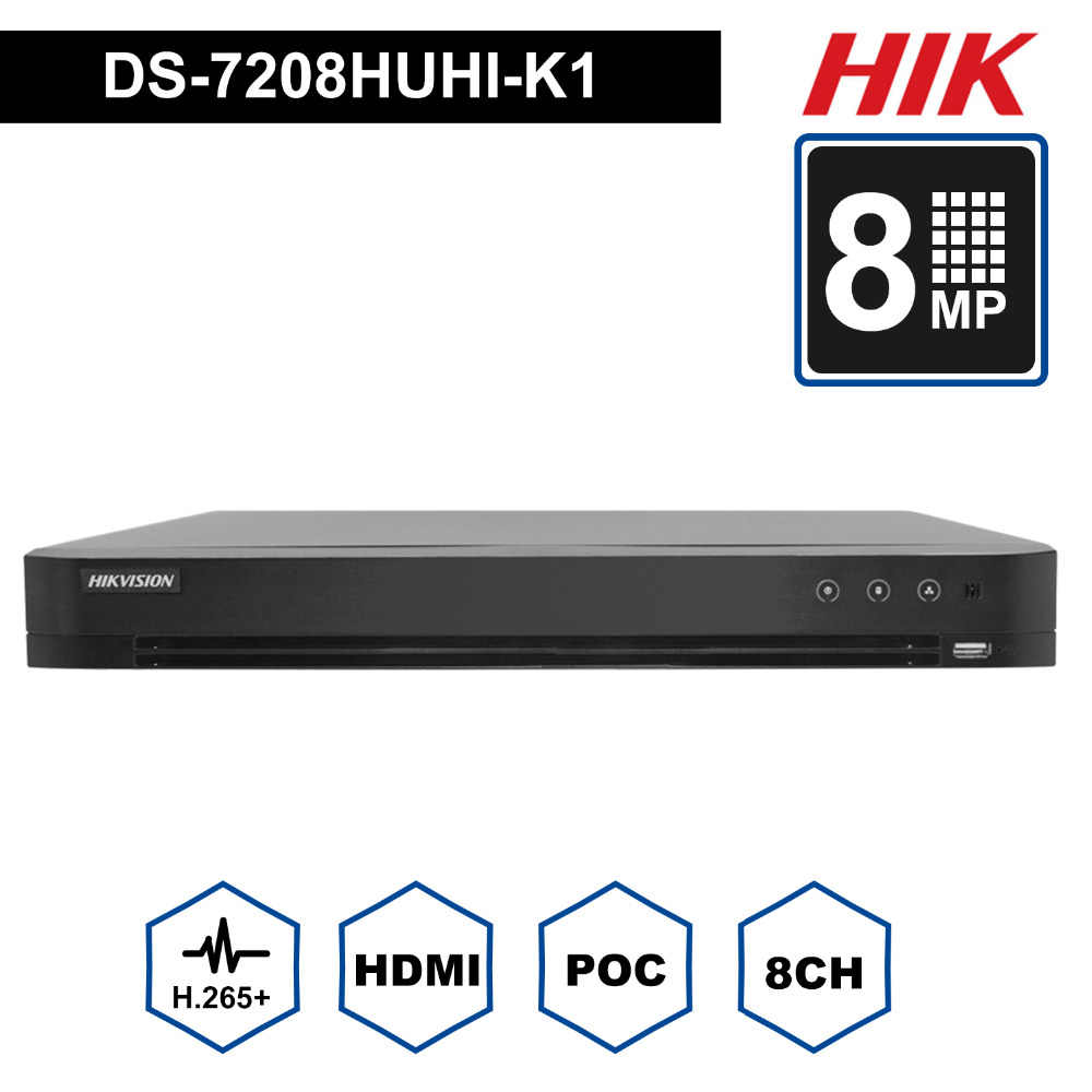 Hikvision 16CH DVR DS 7216HUHI K2 Support CVBS TVI CVI AHD