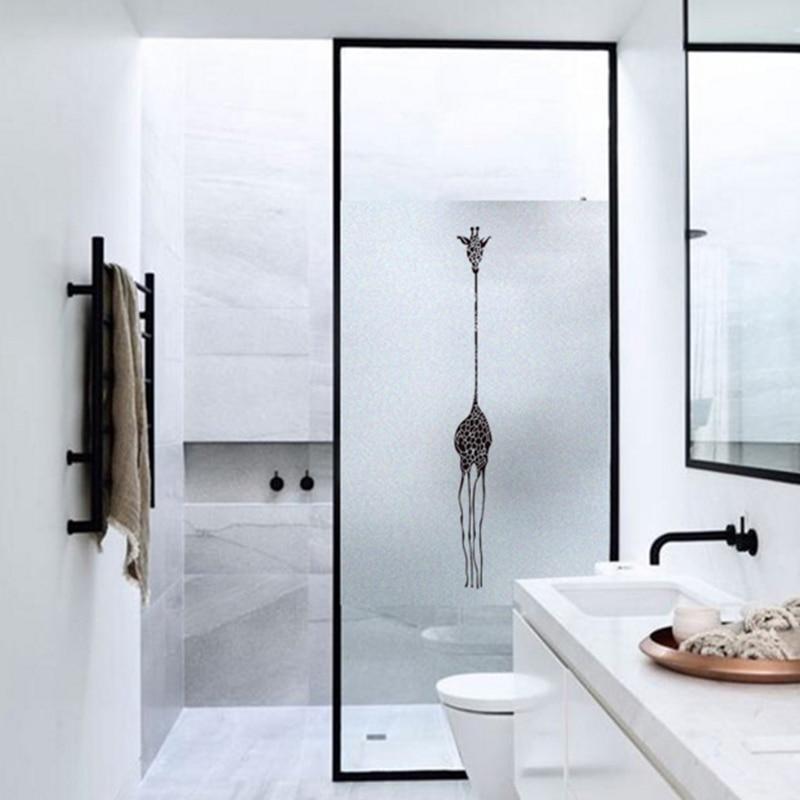 Frosted glass stickers giraffe Bathrooms balcony door windows electrostatic transparent opaque film