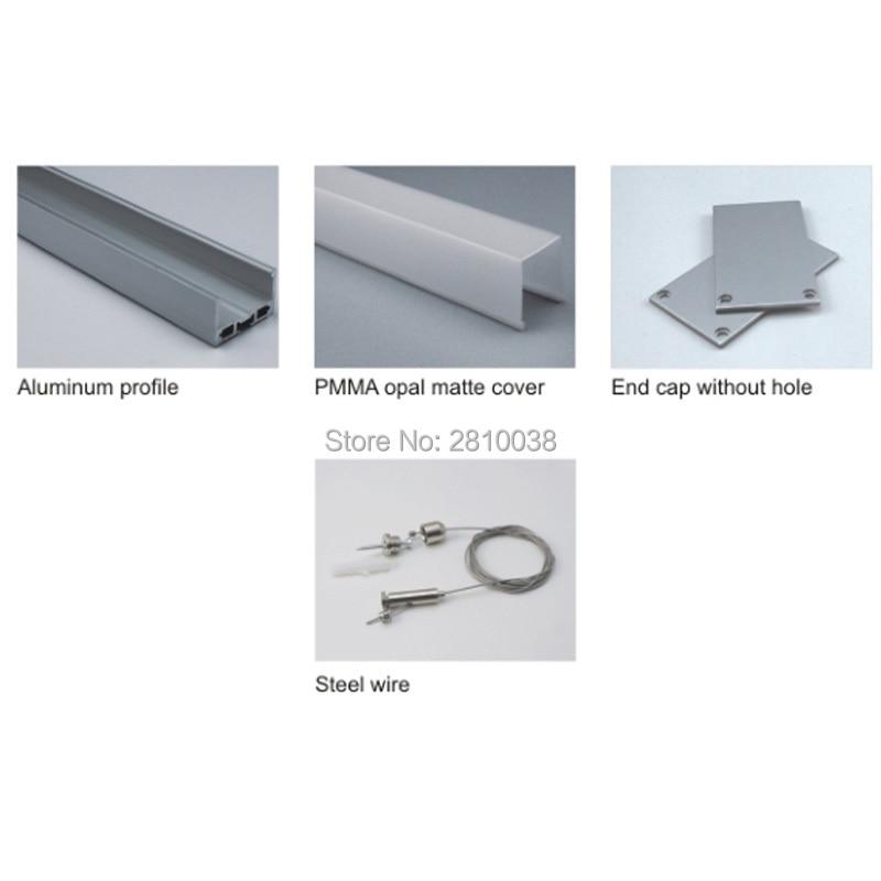 tamanho de aluminio iluminacao conduzida luz maior u 02