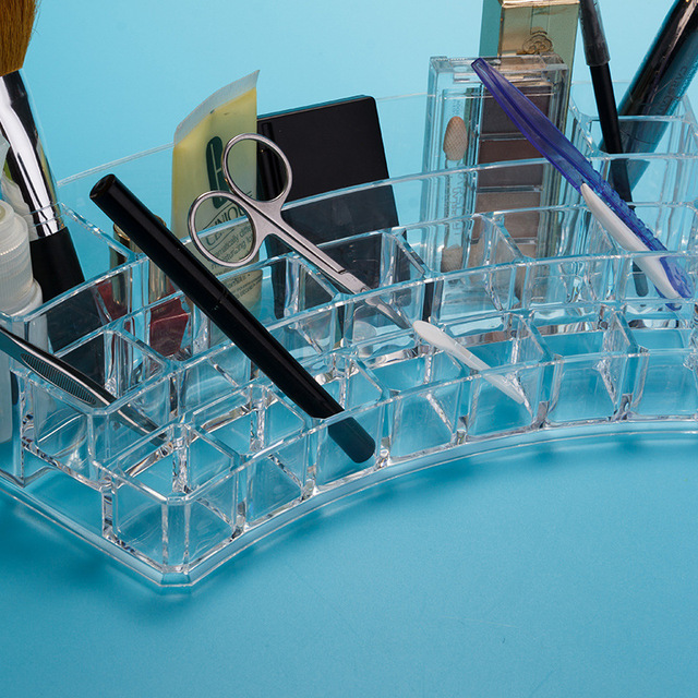 LIYIMENG Nail Polish Organizer Cosmetic Eyebrow brush Storage Bathroom Hotel Container Jewelry Rack Lipstick Holder Earring Gift