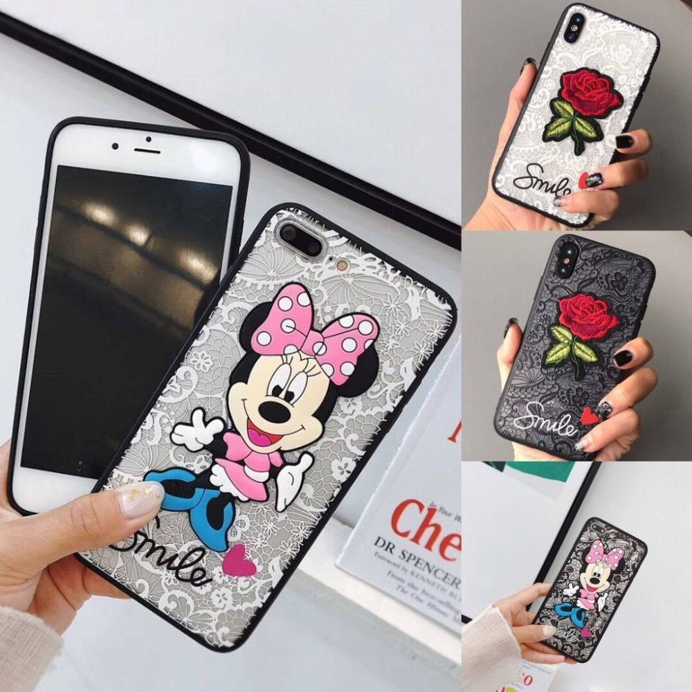 Vintage Lace Rose Minnie Flower Unicorn Phone <font><b>Case</b></font> for <font><b>Vivo</b></font> V9 V7 V5 Plus V11i V3 <font><b>V3Max</b></font> Cover for OPPO F9 F7 F5 F1s A3s A7 A57 image