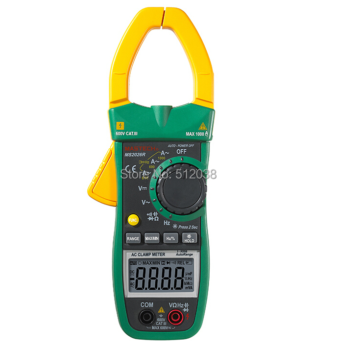 MS2026R  AC/DC digital Clamp Meter table MAX 1000A 600V аудио аппаратуру в москве ms max