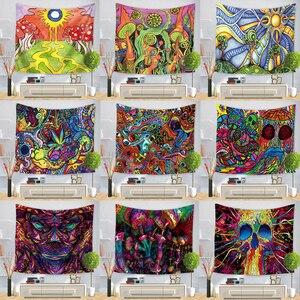 Image 1 - Hongbo Hippie Mandala Modello Arazzo Pittura Astratta di Arte Della Parete Hanging Coperta Soggiorno Decor Mestieri Multifunzione Zerbino