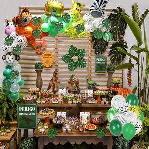 Image 5 - Jungle Zoo Safari Party Supplies Decoration Kit Animal Foil Balloons Latex Forest Wild Animal Birthday Kids Baby Shower Decor