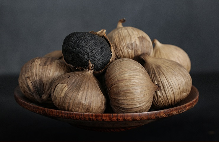 Free Shipping 250g 90 Day Fermentation Single Clove Black Garlic Blood Sugar Balance Food