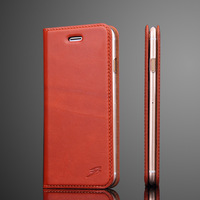 4 Colors Crazy Horse Genuine Leather Cover For Iphone 7 4 7 Real Natural Cow Skin