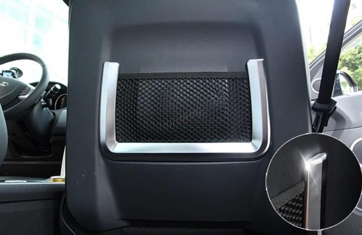 For Land Rover Range Rover Evoque 2011-2016 Car ABS Chrome Car Seat Storage Net Bag Cover Trim pitstop модель автомобиля range rover evoque цвет белый