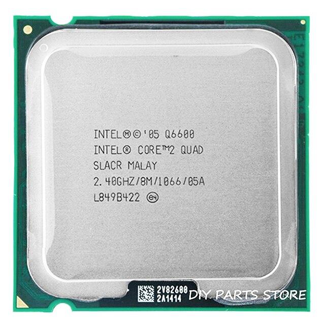 4 INTEL core 2 QUAD Q6600 разъем LGA 775 Процессор Processor 2,4 ГГц/8 м/1066 мГц)