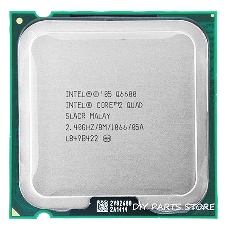4 core INTEL Core 2 QUAD Q6600 Socket LGA 775 מעבד מעבד 2.4 Ghz/8 M/1066 MHz) title=