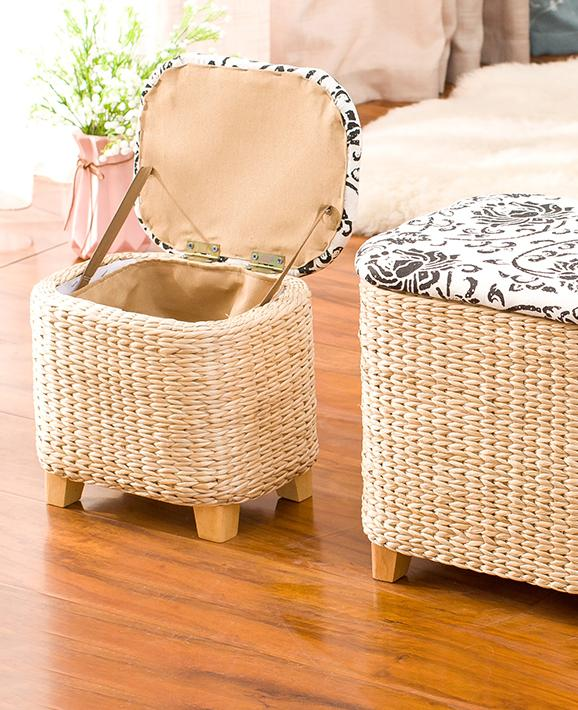 Magnificent Us 34 15 32 Off Rattan Straw Storage Stool Ottoman Foot Stool Rectangle Hand Knit Floor Footstool For Living Room Bedroom And Under Desk In Stools Gamerscity Chair Design For Home Gamerscityorg