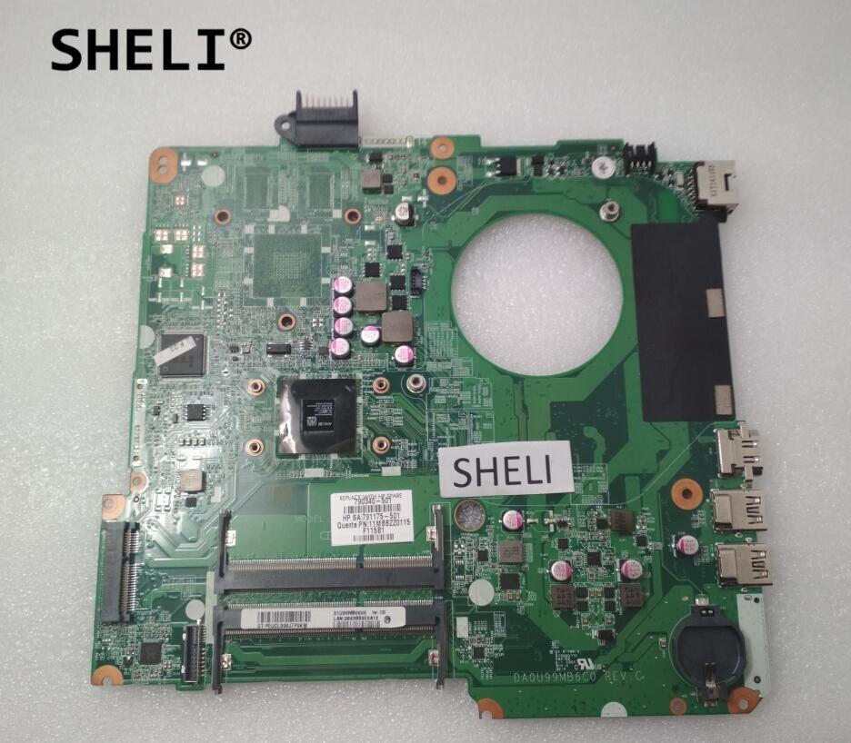 SHELI DA0U99MB6C0 790340-001 790340-501 For HP 15 15-F Motherboard with E1-6010 CPU