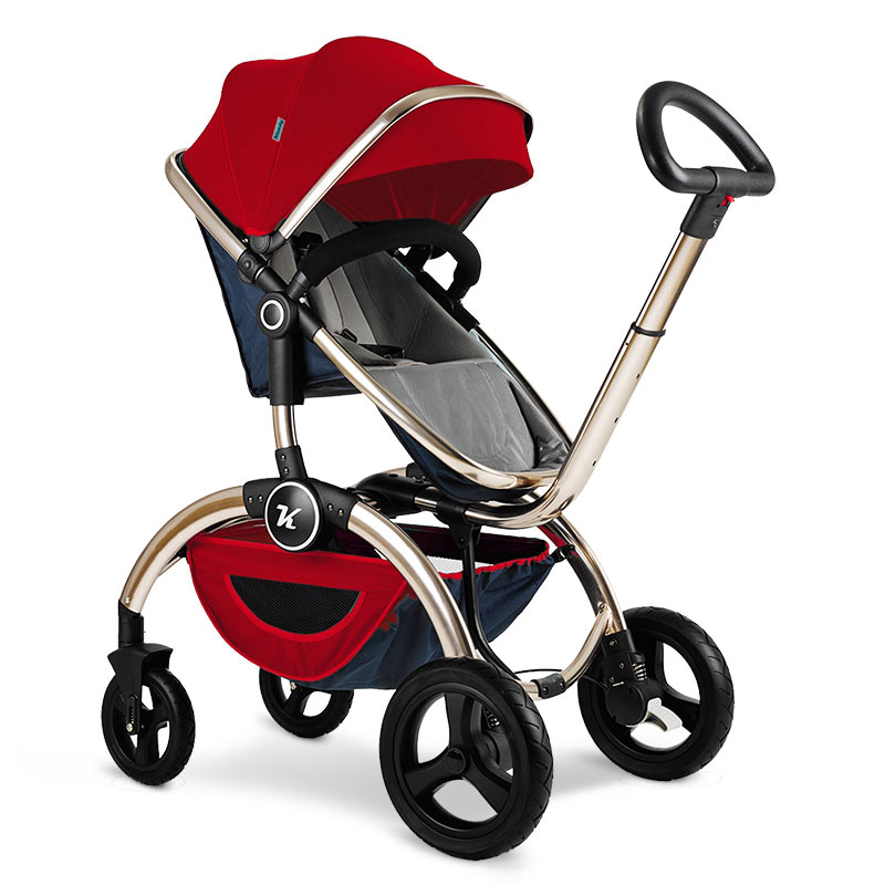 Baby Stroller 3 in 1 High Landscape Aluminum Luxury Folding European Baby Carriage 2 in 1 Pram For Newborn Kinderwagen Poussette babyruler baby stroller 3 in 1 high landscape aluminum luxury folding baby carriage pram for newborn kinderwagen carrinhos koltu