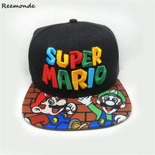 5e2ee5d4c3c Super Mario Bros Hats Cosplay Mario Luigi Yoshi Snapback Baseball Caps  Cartoon Adult Casual Summer Sun
