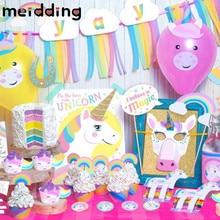 ФОТО meidding 1 set various unicorn party gifts baby shower birthday party decor wedding decorations rainbow unicorn party supplies