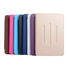 ocube 10pcs/lot PU Leather Case Cover + TPU Back Stand Card Slots Shell Case For Apple iPad Mini 4 Mini4 7.9″ Tablet DHL Free