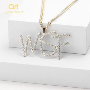 Image 1 - Collier personnalisé avec nom cursif, lettres initiales, collier Hippop, chaîne cubaine, bijoux pour hommes et femmes