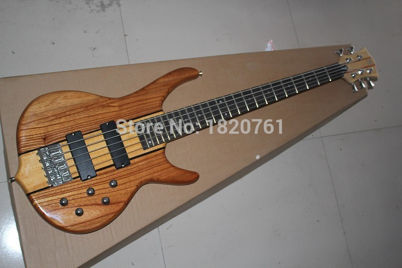 Free Shipping High Quality Custom 5 string smith Burlywood Electric bass guitar in stock   141110
