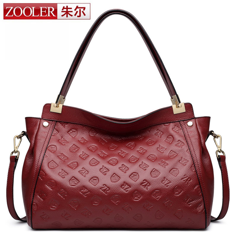 ZOOLER Genuine Leather Bag For Women Vintage Handbag Real Cowhide Crossbody Bags Casual Travel Bag Totes Printing Designer Brand luxury genuine leather bag fashion brand designer women handbag cowhide leather shoulder composite bag casual totes