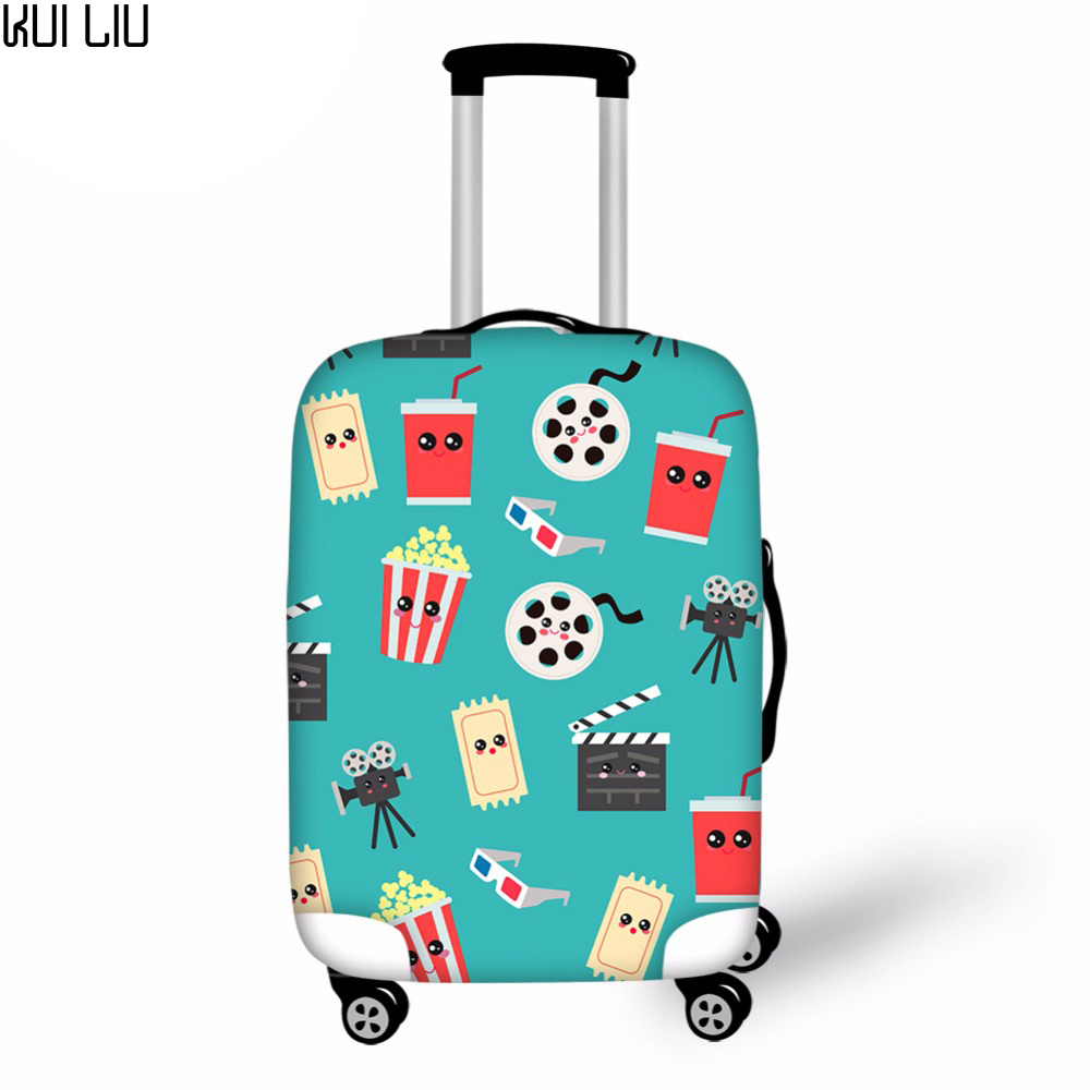 Customized Image Movie Travel Thicken Elastic Color Luggage Suitcase Protective Cover Apply To 30 Inch Cases Travel Accessories