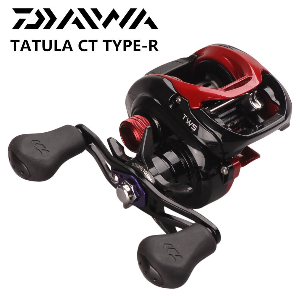 DAIWA originale TATULA CT TYPE-R 100HS 100HSL 100XS 100XSL 7.3: 1/8. 1:1 Baitcasting Reel Fishing 8BB TWS Rotondo bobina Pesca