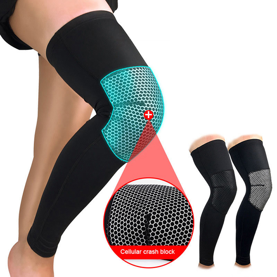 1PCS Basketball Gym Cycling Running Sports Compression Leg Sleeve Knee Support for Outdoor Sports Safety Hiking Accessories