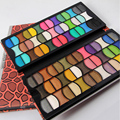 Popular Leopard Leather 82 Colors Shimmer Eyeshadow Palette Women Cosmetic Eyeshadow Professional Make Up Kit Fashion Colors New